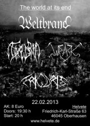 2013-02-22 - The world at its end - Weltbrand, Thyrgrim, Wrack, Frigoris
